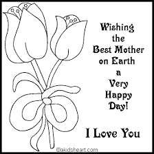 Color For Happy Card To Color For Mom Coloring Holidays Mom Pinterest Happy