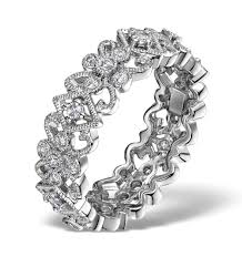 diamond eternity ring trellis 0 42ct set in 18k white gold