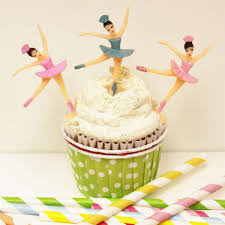 ballerina cake toppers class princess cupcake picks plastic baking supplies sprinkles