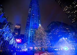 rockefeller center tree lighting see photos am new york