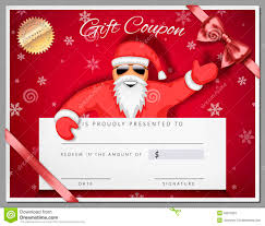 santa gift certificate template free download resume for student