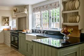 french country style curtains swag plaid to country style kitchen