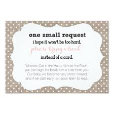 baby shower book instead of card poem baby shower book request invitations announcements zazzle