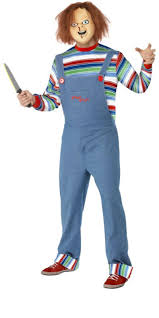 matrix halloween costume a chucky fancy dress costume that includes top dungarees and mask