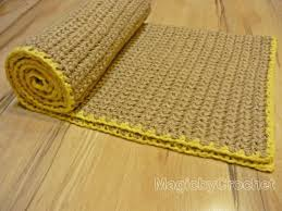 Natural Fiber Rug Runners Natural Rug Fiber Rug Crochet Rug Jute Rug Throw Rug
