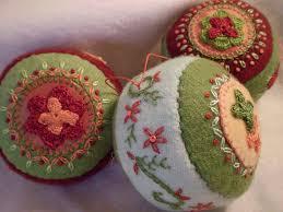 handmade pincushion christmas ornaments ornament pincushio