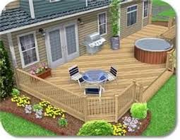 deck across entire back of house patio pinterest decking