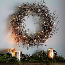 battery powered led lights and glitter turn a twig wreath from west