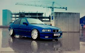 bmw e36 stanced download wallpaper bmw machine blue bmw free desktop wallpaper