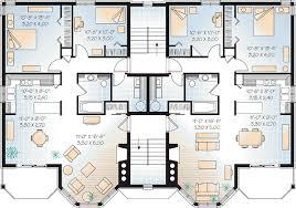 multi level floor plans multi family plan 64952 at familyhomeplans com