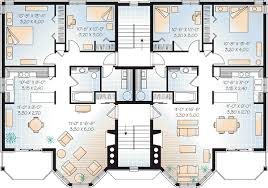 multifamily house plans multi family plan 64952 at familyhomeplans com