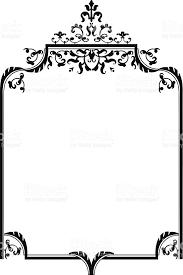 black ornament frame stock vector 153920238 istock