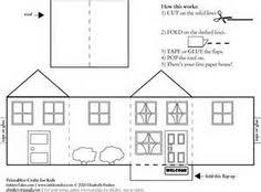printable model house template photos paper village houses templates coloring page for kids