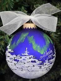 alaska painted ornaments