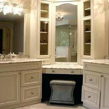 Corner Bathroom Vanity Cabinets Corner Bath Vanity Cabinets Luannoe Intended For Awesome Home