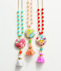 tassel necklace images Colorful tassel necklace nest pretty things jpg