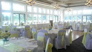 langley golf and banquet centre wedding venue yellow wedding decor