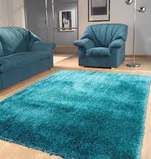 Blue Ombre Area Rug by Solid Turquoise Shag Rug 5 U0027 X 7 U0027 Ft 199 99usd Area Rug Rug