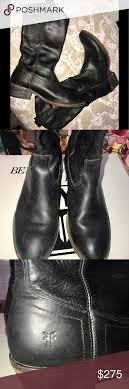s frye boots size 9 frye carson pull on size 9 black shoes heels boots heel boots