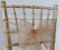 organza chair sashes organza sash blush pink