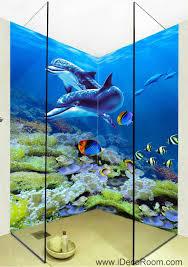 3d wallpaper dophins coral fish wall murals bathroom decals wall 3d wallpaper dophins coral fish wall murals bathroom decals wall art print home office decor