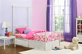 canopy twin beds for girls dhp white twin canopy bed walmart canada