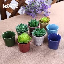 yefine design ceramic flowerpot planters for succulents