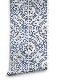Mediterranean Kitchen Mastic Heritage Tiles Wallpaper Design By Milton U0026 King Tile Wallpaper