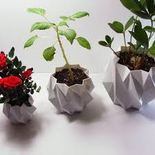 plastic planter pots polygonal planters mid century modern
