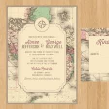 theme invitations 20 printable travel wedding invitations southbound