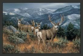 custom printed rugs wildlife last glance mule deer novelty outdoor
