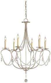 Currey And Company Lighting Currey And Company 9890 Crystal Six Light Small Chandelier