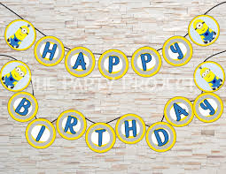 Happy Birthday Flags Diy Printable Minion Happy Birthday Banner