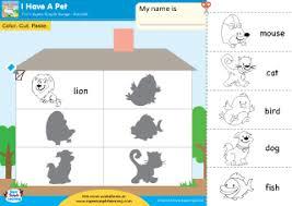 i have a pet worksheet u2013 color cut u0026 paste super simple