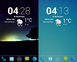 20 beautiful weather widgets for your android home screens hongkiat - Clock And Weather Widgets For Android