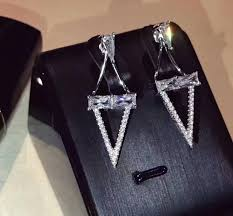 cool ear studs triangle fashion cool and cool ear studs for germany