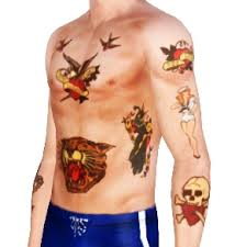 mod the sims sailor jerry tattoo pack