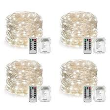 battery operated led string lights waterproof amazon com yihong 4 set string lights battery operated fairy