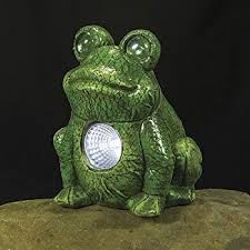 solar frog light smart solar 3590wrm2 garden pal frog accent light 2