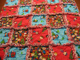 charlie brown and snoopy christmas baby rag quilt blanket unisex