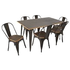 oakland modern antique espresso dining set eurway