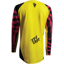 thor motocross gear nz thor 2017 fuse air dazz jersey magenta yellow available at