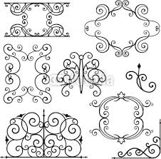 tableau poster wrought iron ornamental designs wrought iron