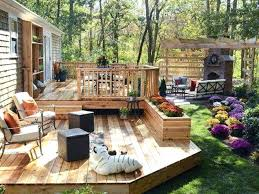 Backyard Remodel Ideas Exteriors Small Backyard Deck Patio Designs Ideas With Curved