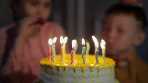 young fat woman blowing candles on birthday cake at party videos