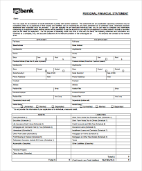 Personal Financial Statement Excel Template Personal Financial Statement Personal Financial Statement For