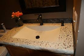 Vanity Countertops With Sink Bathroom Concrete Vanity Sink Portfolio North Metro Twin Cities