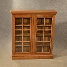 antique oak bookcase display library glazed antiques atlas