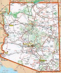 map az arizona state map