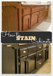 staining kitchen cabinets with gel stain how to gel stain cabinets she buys he builds